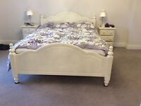 Painted pine king size bed