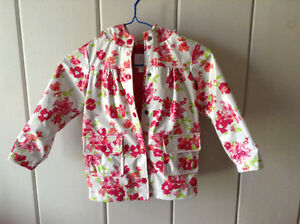 Size 4 Girls' raincoat light jacket