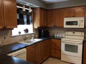 Gently used Oak Kitchen with large Pantry.