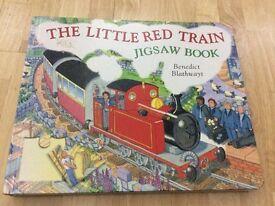 Little red train jigsaw book