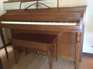 Apartment size piano, bench included