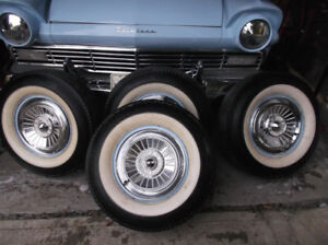 1957 FORD FAIRLANE 5 HUBCAPS FOR SALE ---14 INCH
