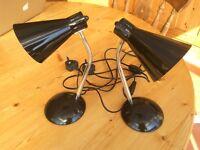 BEDSIDE LAMPS. BLACK