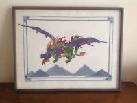 Large dragon cross stitch