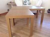 Coffee Table and End Tables (x2) - one year old