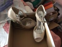 Nearly New. Ladies Wedge Sandal. Prom