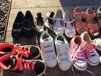 Girls trainers and shoes- size 10 moslty
