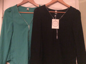 Pair of Women's Chiffon Blouses both for $15