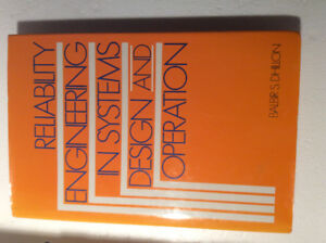 Reliability Engineering in Systems Design and Operation