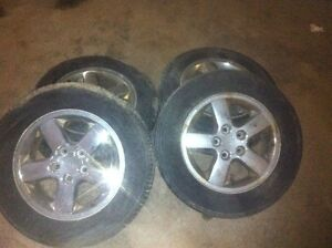 JEEP 17 inch chrome rims