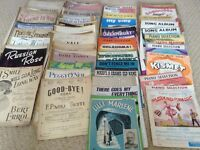 Sheet Music. Over 200 sheets and songs - Job lot