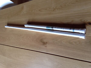 2 white tension rods