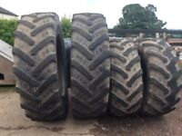 Tractor tyres 540 to the front and 650 for the rear