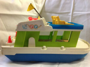Fisher Price VINTAGE Boat  with lawn chairs