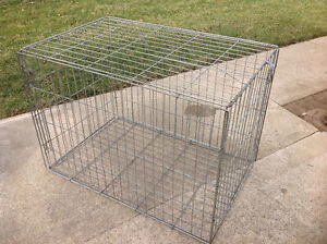Fold down wire dog kennel, Harrow