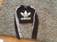 Adidas crop top size small