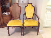 Dining chairs and China cabinet