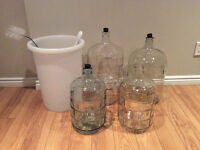 Wine pail and Carboys