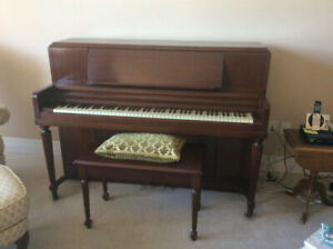Apartment Size Heintzman Piano and Bench Excellent Condition