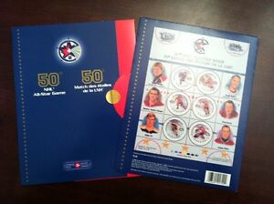 NHL 50th All-Star Game Stamp Sheet & First-Day Covers