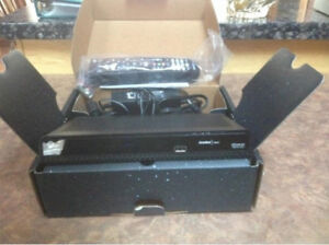 New Shaw Satellite TV Receiver & Remote with used Sat Dish