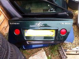Lexus is200 green boot + spoiler bootlid tailgate lid complete 98-05 breaking spares is 200 is300
