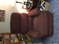 Burgundy lazy boy recliner