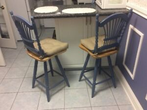 Blue Kitchen Table & Chairs