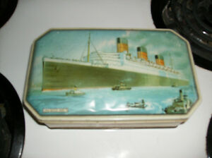 Queen Mary candy tin.