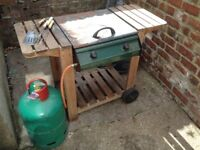 Outback Gas barbecue with Gas bottle