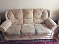 FREE: Sofa and Armchair - Floral Vintage - Project? Hardwood Frame!