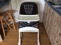 Mamas & Papas brown leather high chair