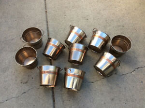 Copper plated flower pots (10)