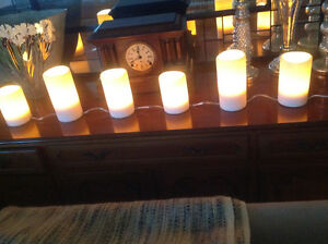 Six Pillar Candles Electric by Restoration Hardware
