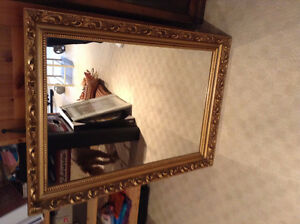 "30"" x 42"" Mirror - Gold Leaf Frame (1950's)"
