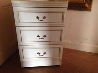 Small French three drawer unit for sale