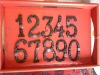 "Cast iron house numbers. 6"" Awesome!  Lots more!"