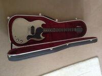 Tokai Japan SG Junior , Hiscox case Gibson logo on it.