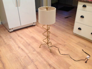 Funky brass tall table lamp