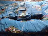 Used twin bed  comforter & sheet with. Two pillow case