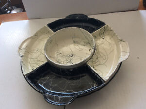 ROTATING DECO STYLE SERVING TRAY