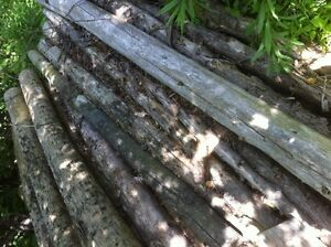 """Round Cedar Fence Posts 6"""" and 8"""""""