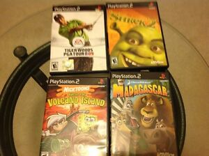 4 PlayStation 2 Games, Shrek, Madagascar, Nicktoons & Tiger,