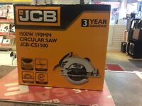 JCB 1500w circular saw in box