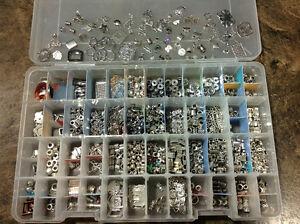 Billes pour bijoux, cuir , métal, verre...