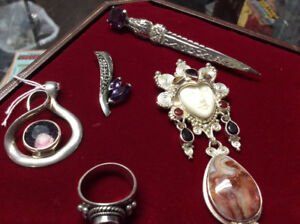 Sterling Silver Amethyst Jewelry 20%off at Pickers Word