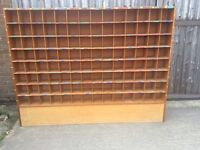 Wood pigeon holes