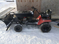 Mg brand riding lawn mower modified