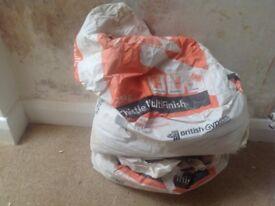 2 part bags of multi-finish plaster
