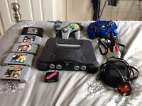 PAL Nintendo 64 with games, controllers and extras